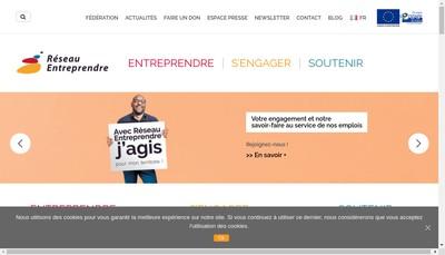Site internet de Reseau Entreprendre Val de Marne
