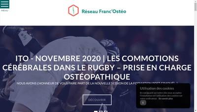 Site internet de Reseau Franc'Osteo