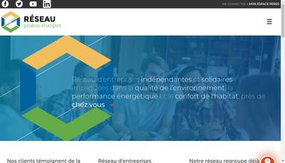 Site internet de Reseau Proeco Energies