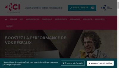 Site internet de Rci, Reseaux & Cablages Informatiques