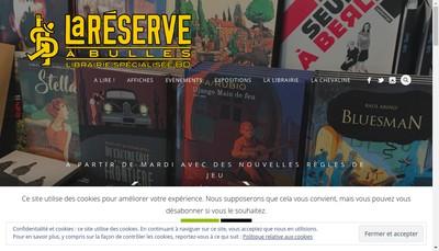 Site internet de La Reserve a Bulles