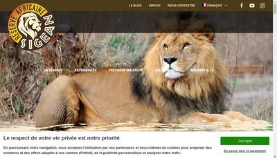 Site internet de La Reserve Africaine de Sigean