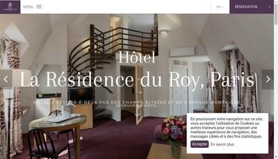 Site internet de Residence du Roy