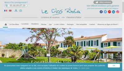 Site internet de Le Clos Rhea