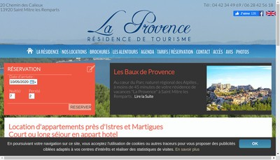 Site internet de SAS Residence la Provence