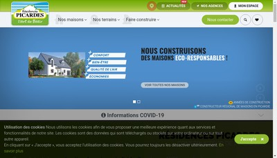 Site internet de Residences Picardes Bdl