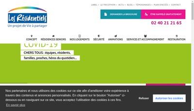 Site internet de Les Residentiels