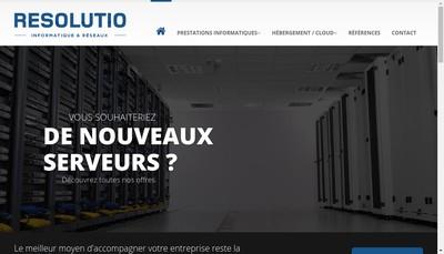 Site internet de Resolutio