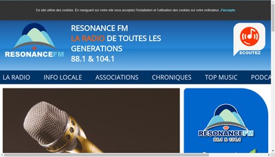 Site internet de Resonance FM