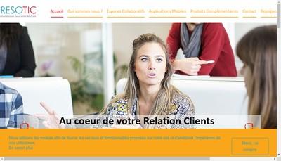 Site internet de Resotic