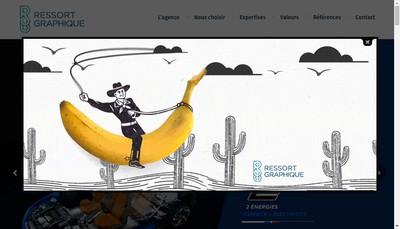 Site internet de Ressort Graphique