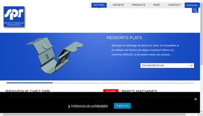 Site internet de Societe Parisienne des Ressorts