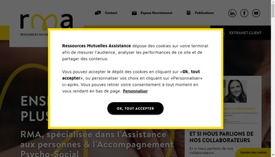 Site internet de Ressources Mutuelles Assistance