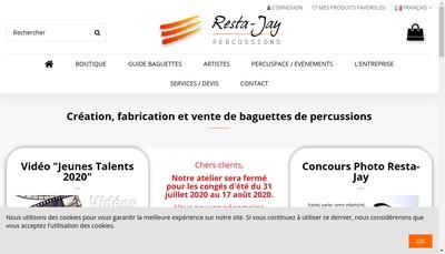 Site internet de Resta-Percussions