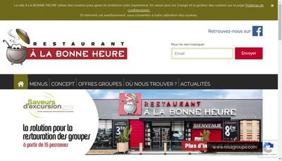 Site internet de A la Bonne Heure