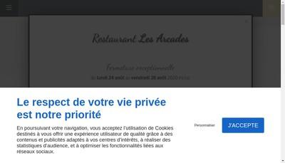 Site internet de Restaurant les Arcades