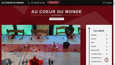 Site internet de Au Coeur du Monde