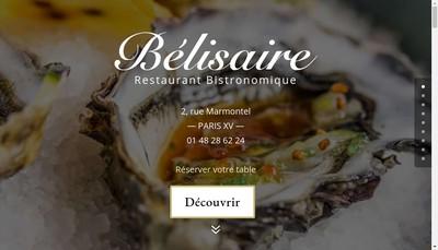 Site internet de Le Belisaire