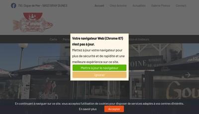 Site internet de Chez Antoine