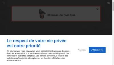 Site internet de Chez Jean Louis