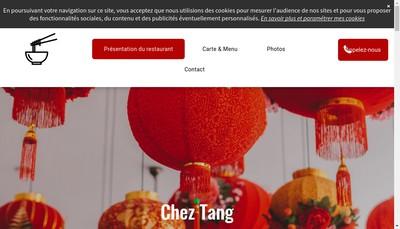 Site internet de Chez Tang