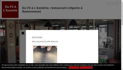 Site internet de Du Fil a l'Assiette