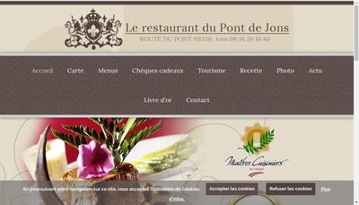 Site internet de Restaurant du Pont de Jons