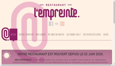 Site internet de L'Empreinte