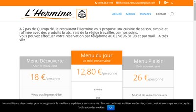 Site internet de L'Hermine