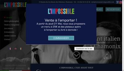 Site internet de L'Impossible
