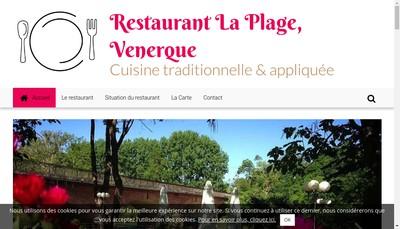 Site internet de La Plage