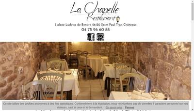 Site internet de Restaurant la Chapelle
