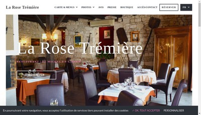 Site internet de La Rose Tremiere