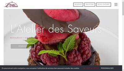 Site internet de L'Atelier des Saveurs