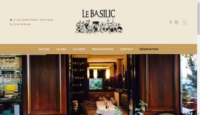 Site internet de Le Basilic