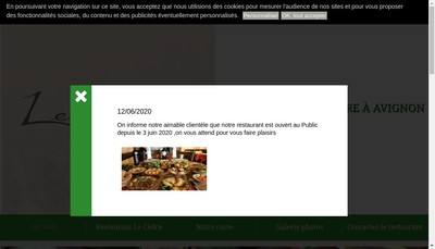 Site internet de EURL Rony Semaan Restaurant le Cedre