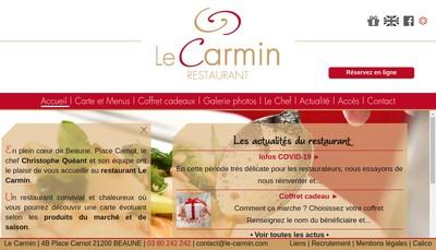 Site internet de Le Carmin