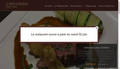 Site internet de L'Epicurien