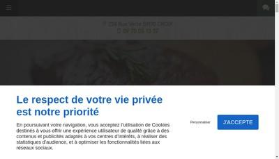 Site internet de Au Vert Pre