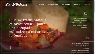 Site internet de SARL Restaurant les Platanes