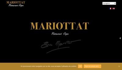 Site internet de Restaurant Mariottat