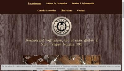 Site internet de Vegan Gorilla
