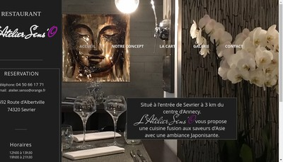 Site internet de L'Atelier Sens'O