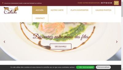Site internet de La Caleche