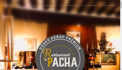 Site internet de Restaurant le Pacha
