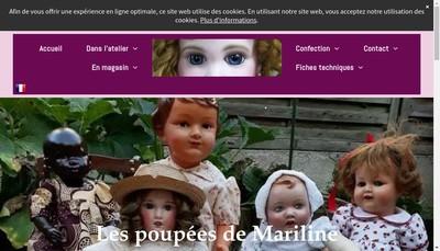 Site internet de Les Poupees de Mariline
