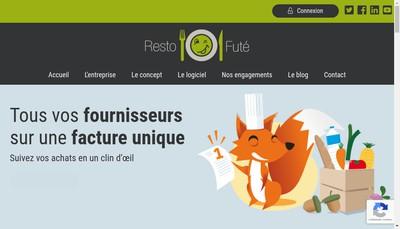 Site internet de Restofute