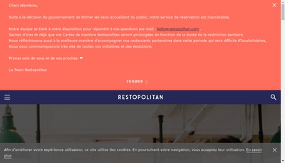 Site internet de Restopolitan
