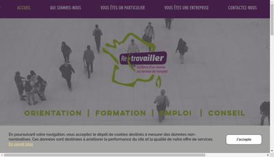Site internet de Association Retravailler Lorraine