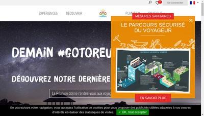 Site internet de Ile de la Reunion Tourisme
